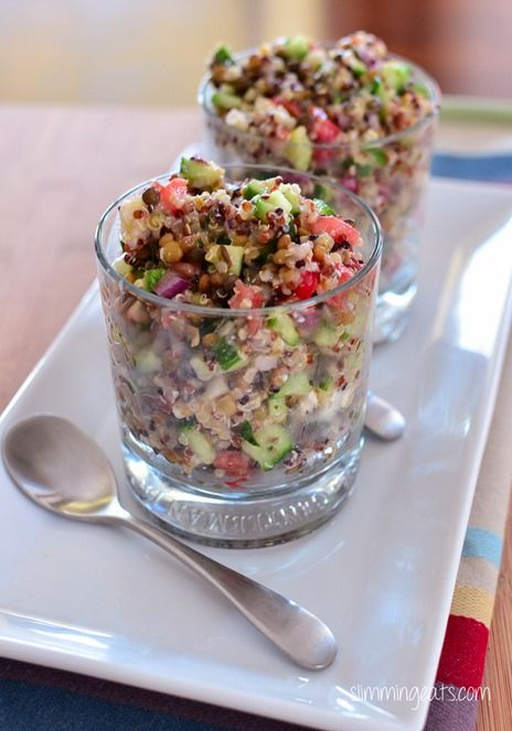 Greek Style Quinoa Pots | Slimming Eats - Slimming World Recipes