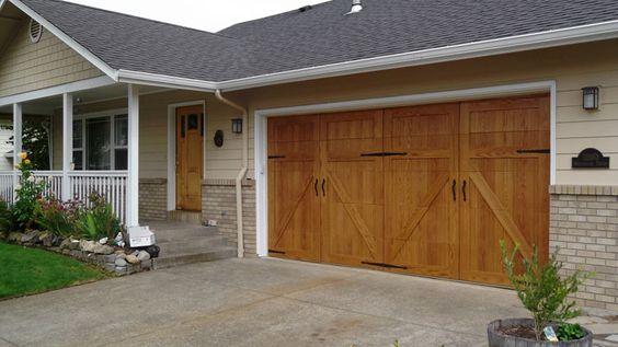 Pinterest the world s catalog of ideas for Wood veneer garage doors