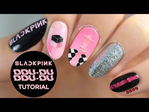 Blackpink Ddu Du Ddu Du Nail Art Tutorial Youtube