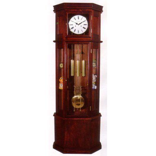 Sofian Cherry Curio Grandfather Clock Grandfather Clock Clock Antique Wall Clock