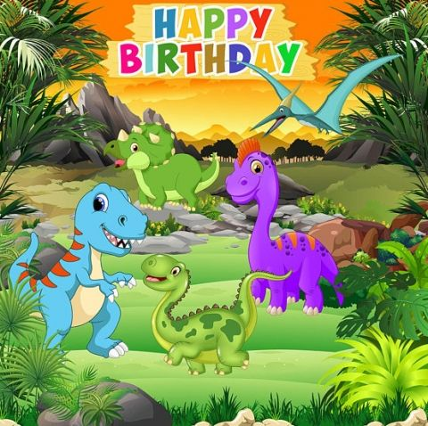 Cartoon Dinosaur Party Backdrop Children Birthday Party Boys Backgrounds For Photo Studio Custo Dinosaur Theme Party Boy Birthday Parties Backdrops For Parties