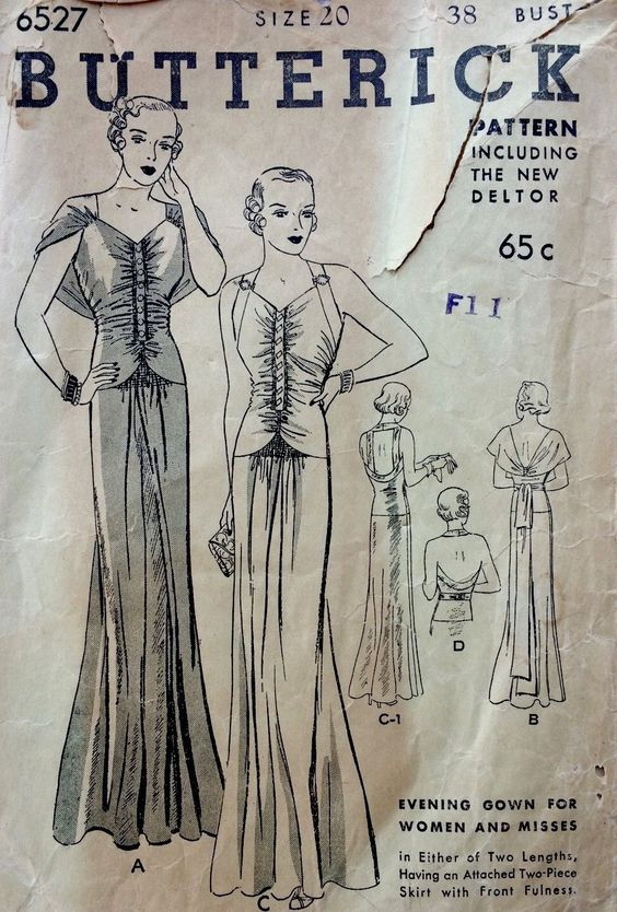 A Few Threads Loose: Sew Expensive - Butterick 6527 1930's Evening Gown
