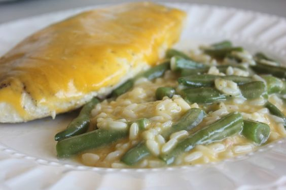 Lindsay's Sweet World: Cheesy Chicken & Rice with Green Beans: