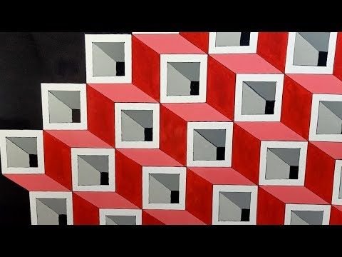 3d Wall Texture Design 3d Wall Painting 3d Wall Decoration Effect Design Ideas Interior Design Youtube Seni Dinding Seni Geometri