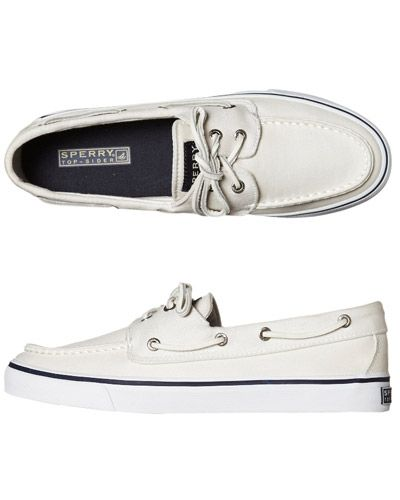 SURFSTITCH - FOOTWEAR - WOMENS FOOTWEAR - SNEAKERS - SPERRY BAHAMA SHOE - WHITE SALT WASHED CANVAS