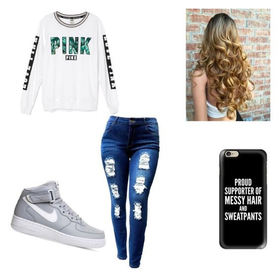 """""""Untitled #32"""" by yasmin-brooke219 ❤ liked on Polyvore featuring Victoria's Secret, NIKE and Casetify"""