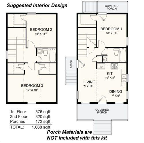 Steel-Frame-Cabin-Kit-3-Bedroom-2-Bath-1068-sqft-INC-METAL-ROOFING-SIDING
