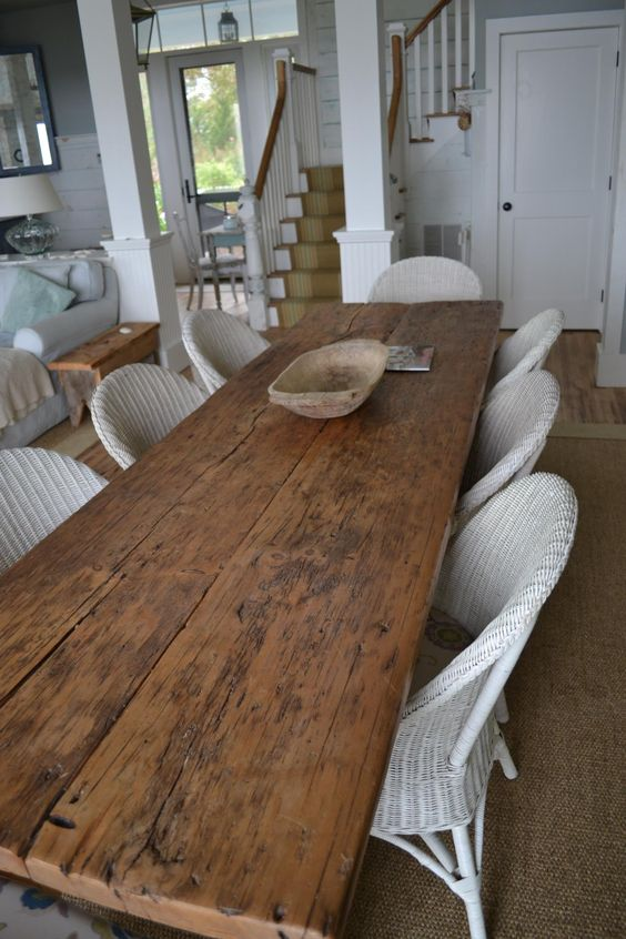 Farm Tables Wide Plank And Tables On Pinterest