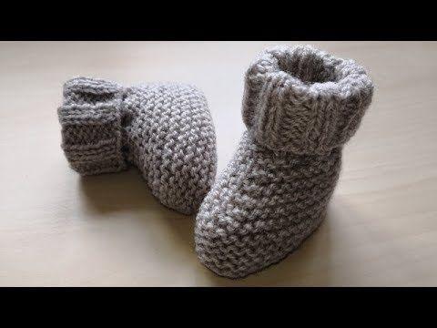 Calcetines Para Bebé Tejidos Con Agujas Rectas No Circulares Soy Woolly Youtube Botitas Bebe Botines De Punto Zapatillas De Ganchillo