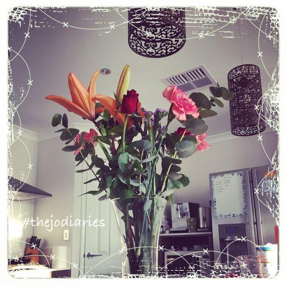 Beautiful flowers from my husband