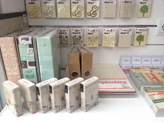 Productos disponibles en nuestra tienda para que hagas realidad todas tus craciones de scrapbooking :)