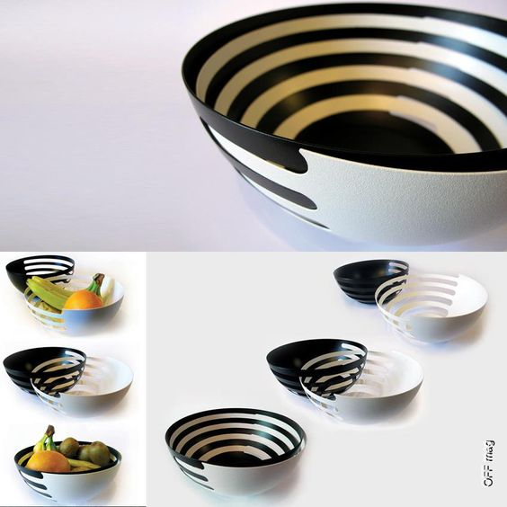 Exceptional Eclipse Is A Set Of Two Fruit Bowls Designed By Sakura Adachi. The Two Bowls  Can Slot Into Each Other Horizontally. They Become A United Bowl Whichu2026 Gallery