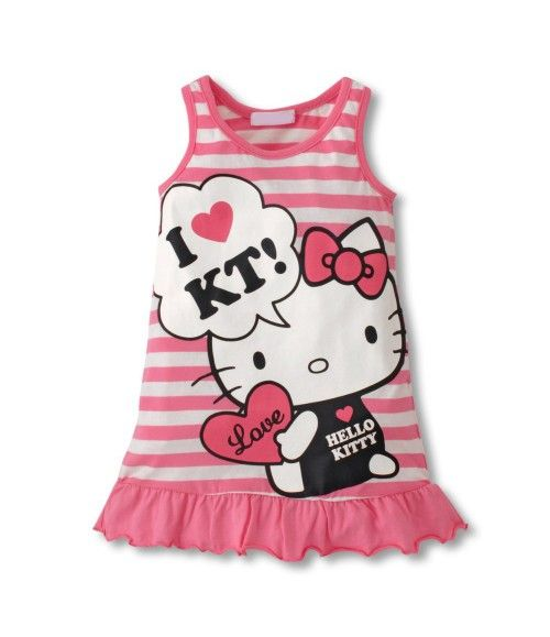 Vestido Love Hello Kitty Rosa