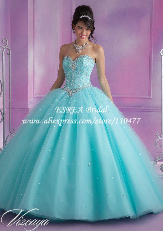 Vestido de 15 color agua marina buscar con google for Color aguamarina