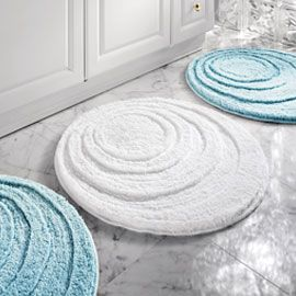 Machine Washable Round Microfiber Bath Mat Soft And Absorbent
