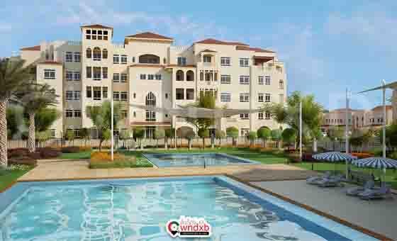 Al Badia Hillside Pool Area Apartments In Dubai Apartment Pool Townhouse
