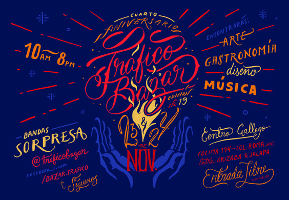 Typography & Lettering / Trafico Lettering
