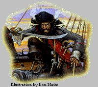 BLACKBEARD WAS BRITISH, probably born before 1690. His real name was thought to be Edward Teach. As a young seaman, he had served on a British privateer that was based in Jamaica, an island in the Caribbean. Privateers were privately owned, armed ships hired by governments during time of war. The privateers' mission was to attack the ships of the enemy. Queen Anne of Britain allowed Teach's privateer to plunder French and Spanish ships during the War of the Spanish Succession and to keep…