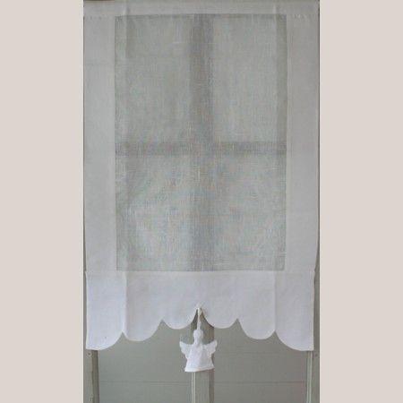 Brise Bise Ange longueur 120cm pour Décorer vos Porte-Fenêtres, Rideaux Romantiques de la Marque Aux Cotonnades de Mathilde Décor Ange Blanc.