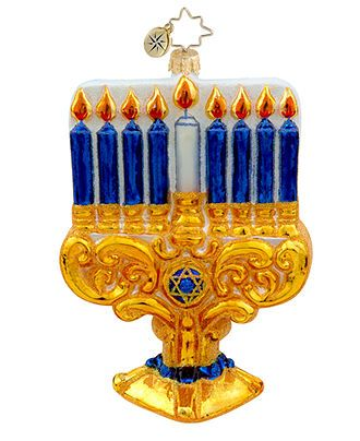 Christopher Radko Ornament, Marvelous Menorah