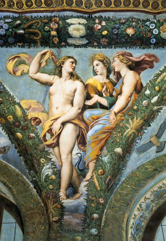 Giovanni da Udine - Venus, Ceres y Juno