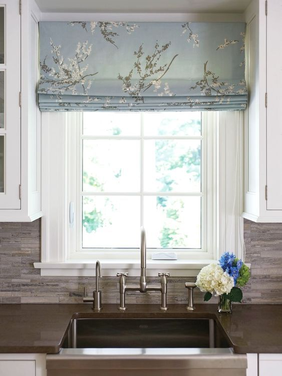 50 Favorites For Friday The Best Room Images I Saw This Week Design Matters Kitchen Window Coverings Roman Blinds Kitchen Curtains With Blinds