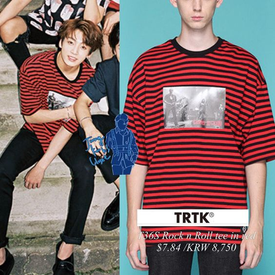 160722 STAR1 magazine Jungkook is wearing TRY TO TALK tee Price $7.84…