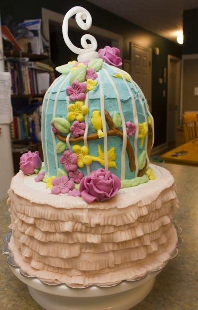Birdcage Shower Cake By jingerelle on CakeCentral.com
