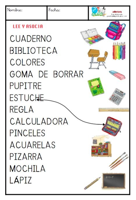 Material Escolar May Scula Vocabulario Pinterest