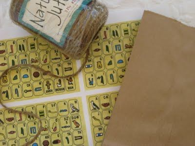 Indiana Jones party - hieroglyphic game idea (decipher hieroglyphic clues) & q-tips w/ straws dart game