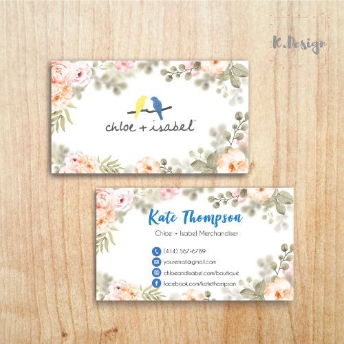 Chloe And Isabel Business Cards Chloe Isabel Custom Card Custom Business Cards Custom Cards Personal Business Cards