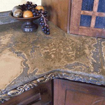Concrete Countertop Edge Designs : ... concrete kitchen for love decorative concrete diy concrete countertops
