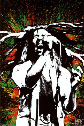Bob Marley, explosion de couleur Photographie sur AllPosters.fr