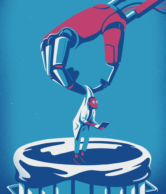 Dangers of Artificial Intelligence. Illustration by Eric Chow. Represented by i2i Art Inc. #i2iart: