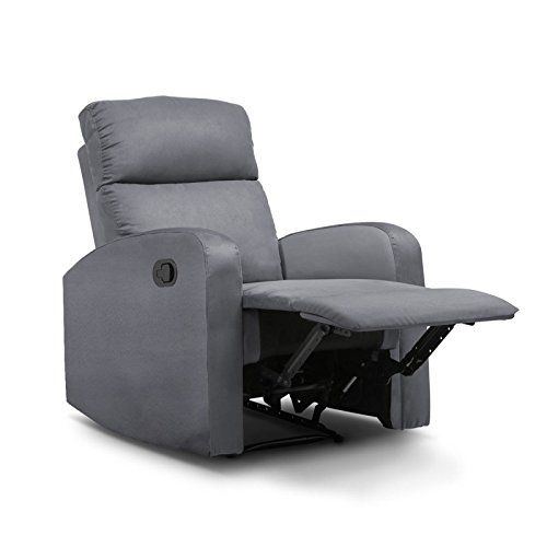 Idmarket Fauteuil Relaxation Inclinable Gris Anthracite Avec Images Fauteuil Relax Fauteuil Gris