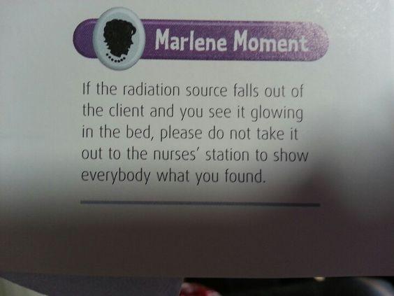 Radiation patients. .. via Marlene Hurst NCLEX book