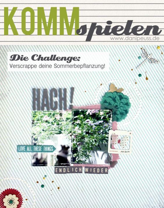 #KommSpielen Scrapbooking Challenge von Steffi Werner für www.danipeuss.de