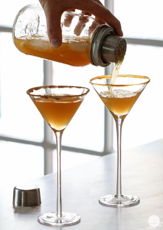 Caramel Apple Cider Martinis