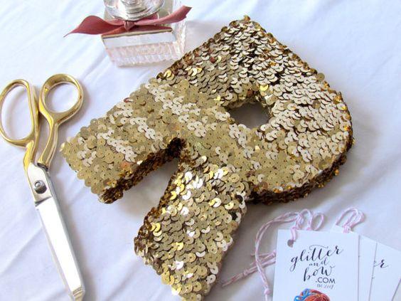 Das ORIGINAL Nähmaschinen Brief gold Silber von glitterandbow