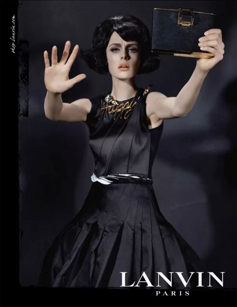 Lanvin Autumn/Winter 2013 campaign, featuring Edie Campbell shot by Steven Meisel #AW13