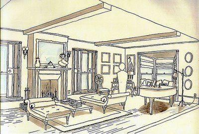 Jill Seidner Interior Design: The Napkin Sketch