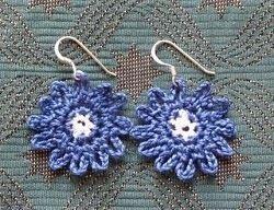 Bonny Blue Earrings | AllFreeCrochet.com