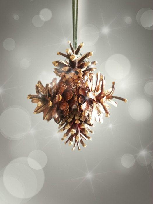 Pino conos natural estrellas adornos de navidad por - Adorno navideno con pinas ...