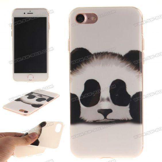 Ultra-Slim Drawing IMD TPU Back Case Cover for iPhone 7 4.7 inch - Cute Panda