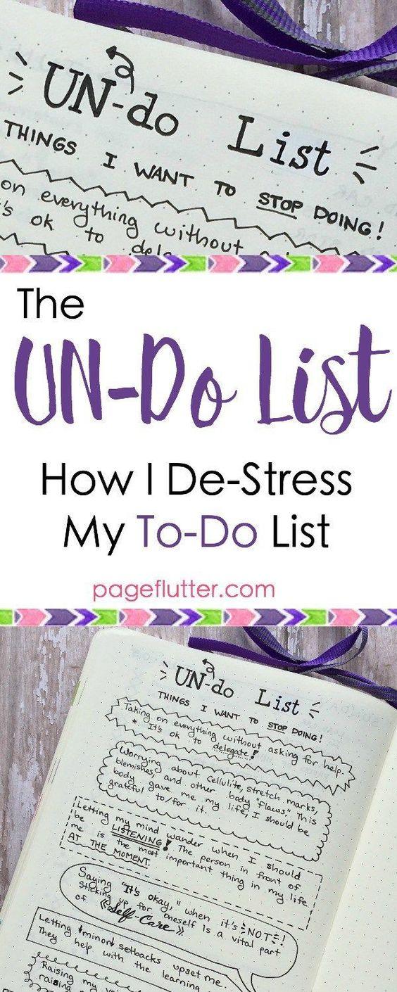 The UN-Do List: De-Stress Your To-Do Lists