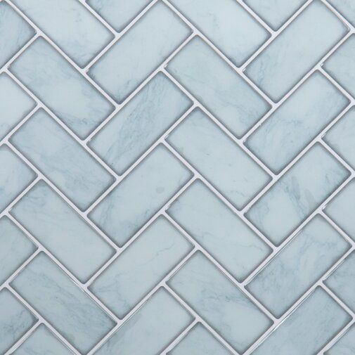 10 X 10 Pvc Peel Stick Mosaic Tile In 2020 Herringbone Wall Tile Herringbone Wall Peel And Stick Tile