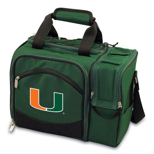 University of Miami Hurricanes Malibu Picnic Tote - Hunter Green