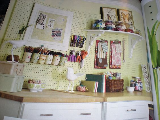 love the peg board idea