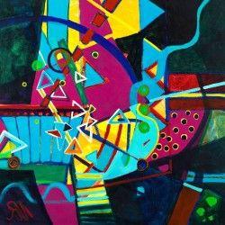 "Acrylgemälde ""Bumerang"" (2006) von Ursula von Rheinbaben: Acryl auf Leinwand 2006, monogrammiert, rückseitig… #Malerei_Acrylmalerei"