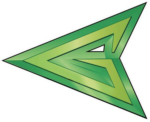 logos green whit...D Arrow Logo